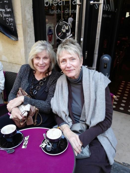 Patti and Barbara at Paris Cafe
