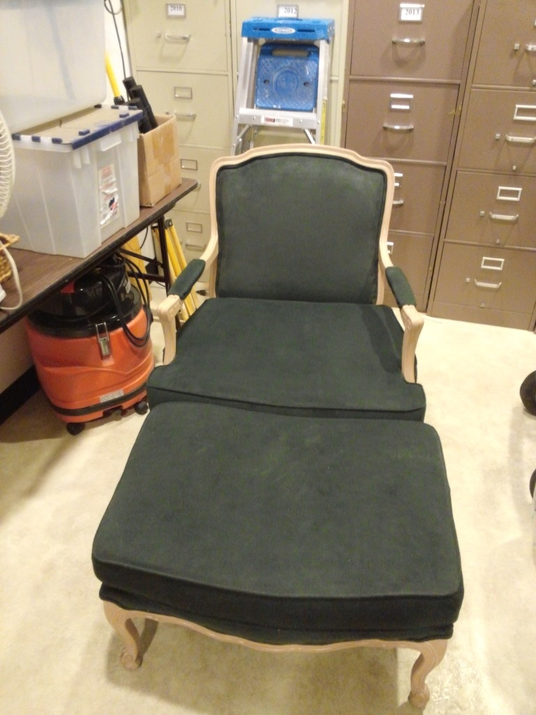 Bergere chair, before