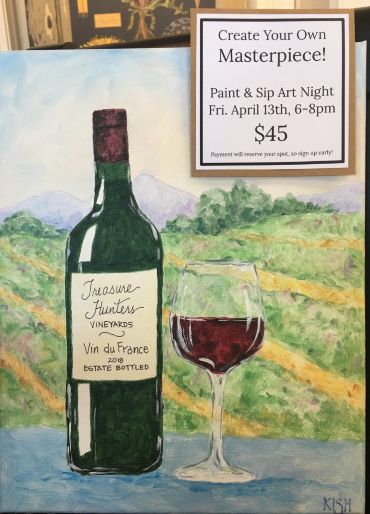 We need 3 more, for Friday night's Paint & Sip Class!