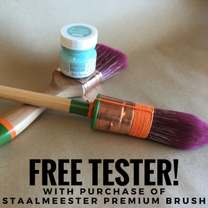 Fusion Mineral Paint special offer! Free tester sized paint with purchase of a Staalmeester Premium Paint Brush!