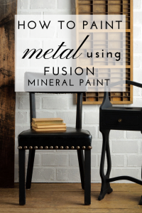 Find out how to paint metal surfaces with this Fusion Mineral Paint tutorial from The Treasured Home in Northern California. Fusion Mineral Paint is amazing for home decor projects and can be used for all your furniture painting techniques. #thetreasuredhome #fusionmineralpaint #paintedfurnituretechniques #homedecorpaint #northerncaliforia
