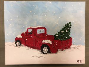 Old Truck With Christmas Tree Painting.Workshops Archive Page 2 Of 12 The Treasured Home