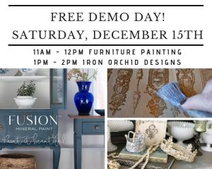 The Treasured Home FREE Fusion Mineral Paint Live Demo Days! #thetreasuredhome #fairoakscalifornia #fusionmineralpaint #furniturepaitingdeomonstration #howtousefusionmineralpaint