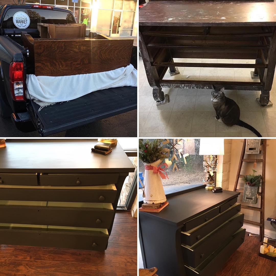It's so easy to transform furniture with paint! Let Barbara with The Treasured Home teach you with this Fusion Mineral Paint Transformation tutorial! #thetreasuredhome #fusionmineralpaint #paintedfurniture #furnituretransformation #furniturepaint