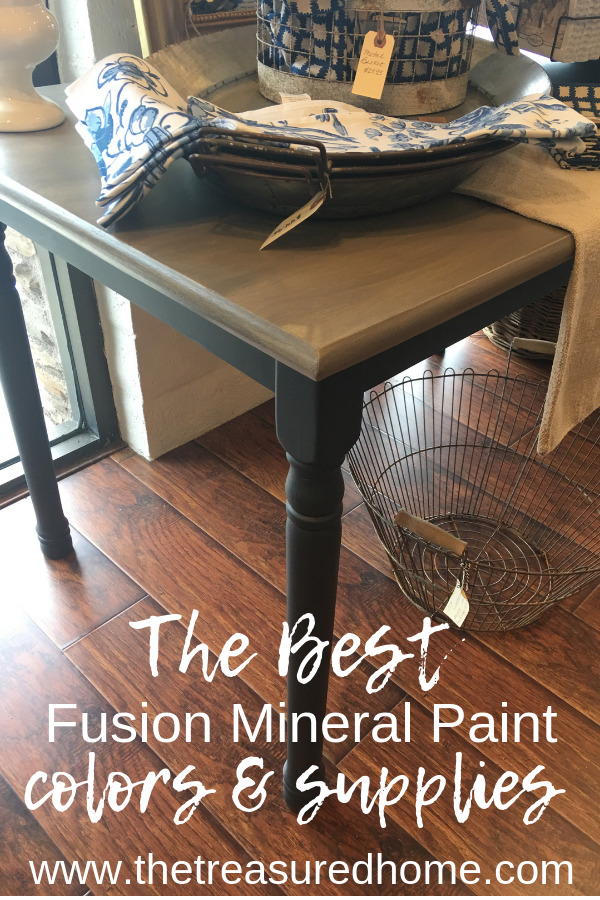 This list of the best furniture paint colors is amazing! They are all quality furniture paint colors from Fusion Mineral Paint that accent any decor style! Jump over, take a look & purchase them from The Treasured Home while you are there! #thetreasuredhome #fusionmineralpaint #bestfurniturepaint #furniturepaintcolors