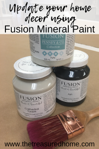Update outdated home decor with Fusion Mineral Paint. Painting resin candlesticks is a fast and easy way to learn! #thetreasuredhome #fusionmineralpaint #updatedhomedecor #DIYhomedecor #besthomedecorpaint