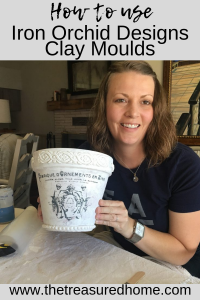 Learn to use Iron Orchid Designs Moulds with this simple beginner's tutorial. #thetreasuredhome #IOD #ironorchiddesignsmoulds #IODmoulds #claymoulds