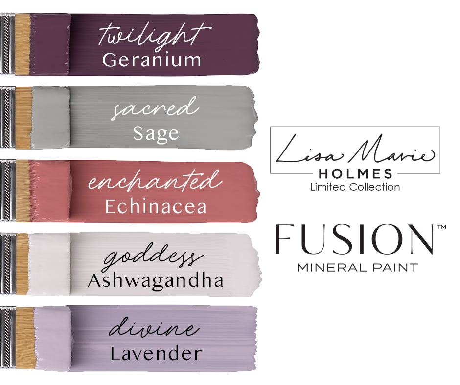 Introducing the NEW Lisa Marie Holmes Collection from Fusion Mineral Paint. #thetreasuredhome #fusionmineralpaint #lisamarieholmes #bestfurniturepaint #onlinepaintshop