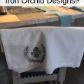 Fabric Stamping with Iron Orchid Designs. The simplest way to make DIY home decor for your farmhouse! #thetreasuredhome #iodstamps #ironorhciddesigns #ironordchiddesignsstamps #DIYhomedecor