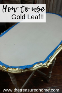 Learn how to use gold leaf on your home decor projects! #thetreasuredhome #goldleaf #howtogoldleaf #homedecordiy #diyhomedecor